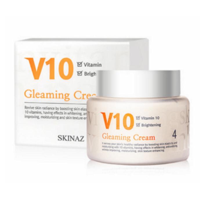 Kem Dưỡng Trắng Cao Cấp V10 Gleaming Cream Skinaz Hàn Quốc 100ml